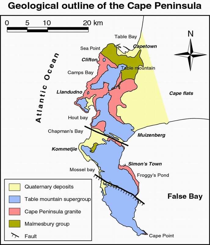 Carte Geologique Afrique Du Sud.Geologie Regionale Western Cape Par Jeff Geologie Et