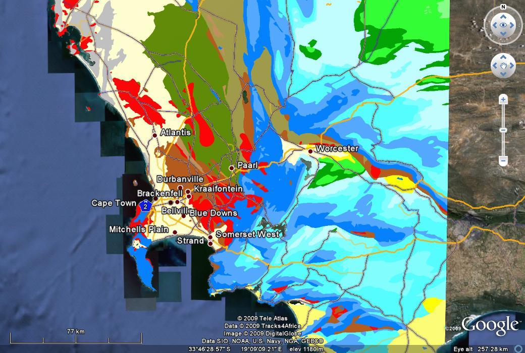 Carte Geologique Australie.Cartes Geologiques Pour Google Earth Par Jeff Geologie Et Geo